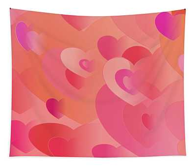 Forever Hearts Wide Format Tapestry