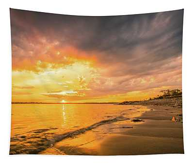 Fort Foster Sunset Watchers Club Tapestry