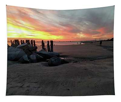 Fort Moultrie Sunset Tapestry