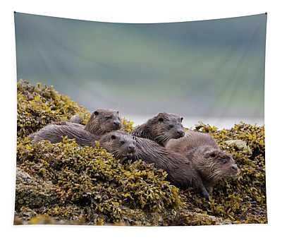 Four Otters Tapestry