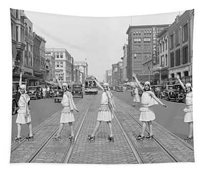 Fox Roller Skating Girls, Washington Dc Tapestry