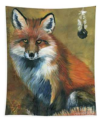 Fox Shows The Way Tapestry