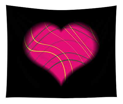 Fractal Abstract Heart On A String Love And Romance Tapestry