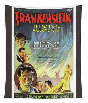Frankenstein Movie Poster Tapestry