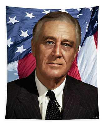 Franklin D. Roosevelt - Dwp191205002 Tapestry