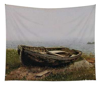 Frederic Edwin Church -hartford, 1826-new York, 1900-. Abandoned Skiff -1850-. Oil On Cardboard. ... Tapestry