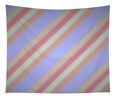 French Diagonal Stripes Tapestry