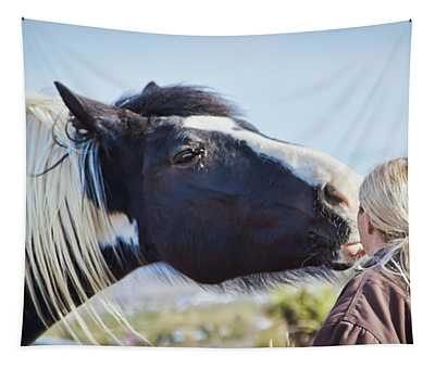 Friendly Kiss Tapestry