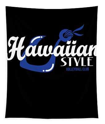 Fresh Hawaiian Style Tshirt Design Hawaiian Style Tapestry