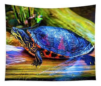 Freshwater Aquatic Turtle Tapestry