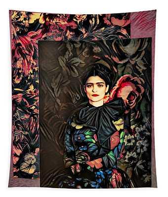 Frida Kahlo Artist Decor Design  Tapestry