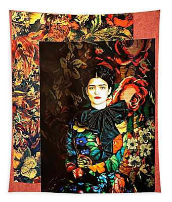 Frida Kahlo Artistic Mexico  Tapestry