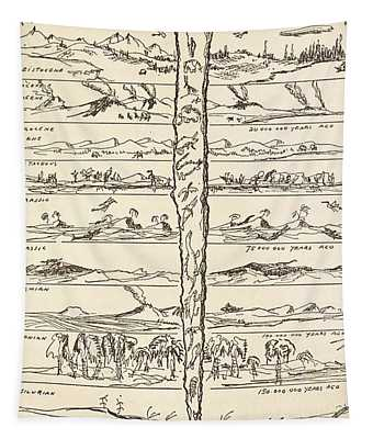 From Animal To Man Tapestry