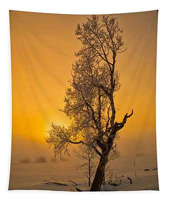 Frosted Tree Tapestry