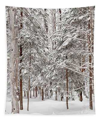 Frosty Pines Tapestry