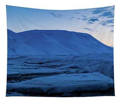 frozen coastline near Longyearbyen Tapestry