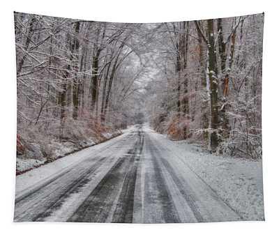 Frozen Road Tapestry