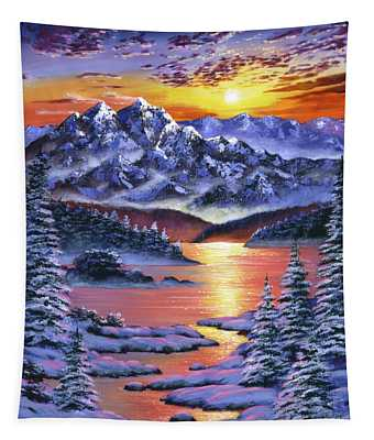 Frozen Sunset Tapestry