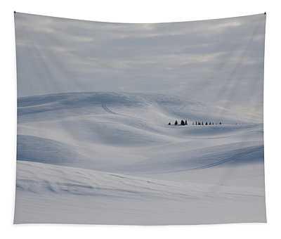 Frozen Winter Hills Tapestry