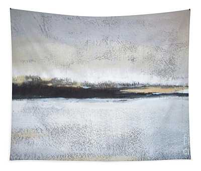 Frozen Winter Lake Tapestry