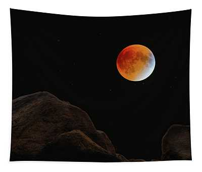 Full Blood Moon, Lunar Eclipse 1 Tapestry