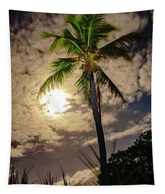 Full Moon Palm Tapestry
