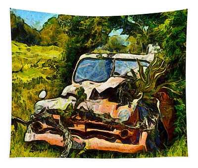 Funky Dodge In The Vineyard Tapestry