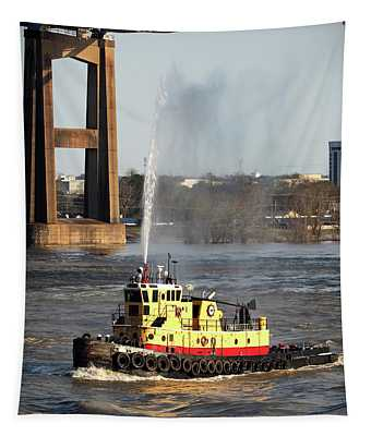 G. Shelby Friedrichs Tugboat At New Orleans Tapestry