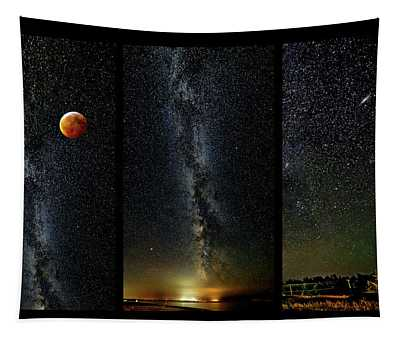 Galaxies - Triptych 2 Tapestry