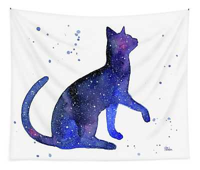 Galaxy Cat Tapestry