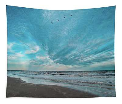 Galveston Island First Light Tapestry