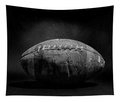 Game Ball - Black And White Tapestry