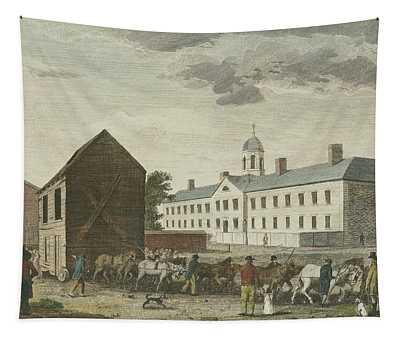 Gaol In Walnut Street Tapestry
