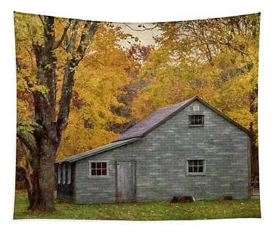 Garage In Autumn Tapestry