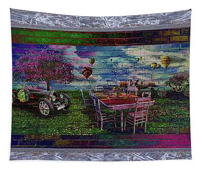 Garden Party You're Invited Tapestry