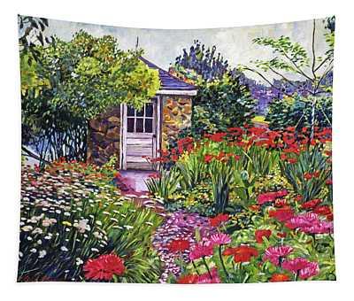Gardener's Stone Shed Tapestry