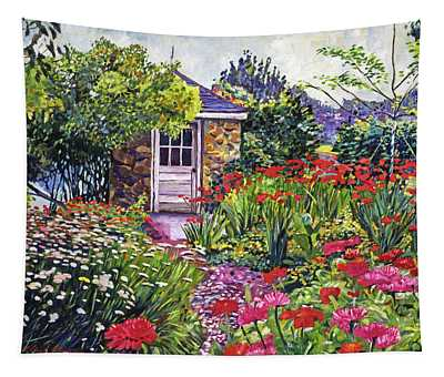 Gardener's Stone Shed Tapestry