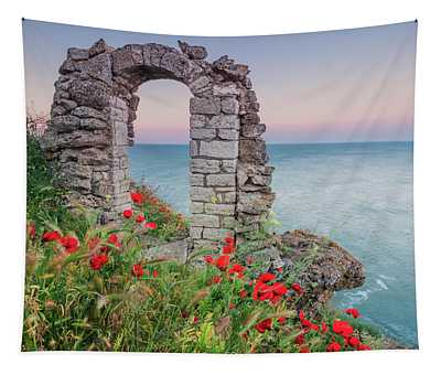 Gate In The Poppies Tapestry