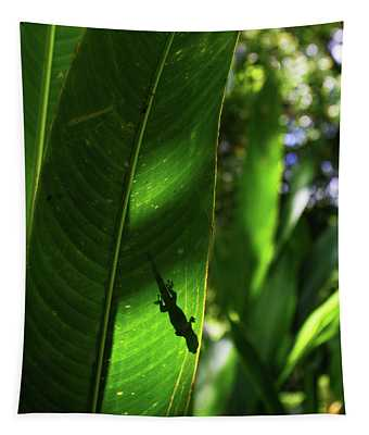 Gecko Silouette Tapestry
