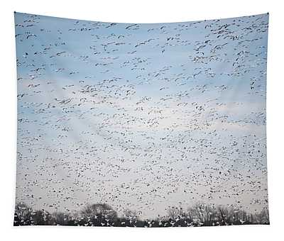 Geese In The Flyway Tapestry