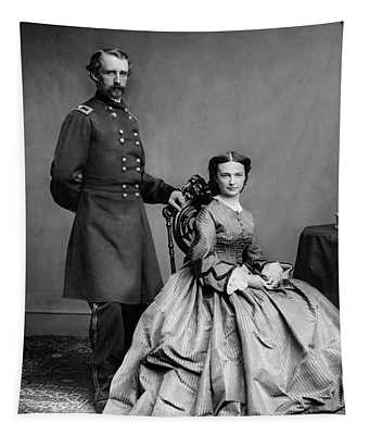 General Custer And His Wife Libbie Tapestry