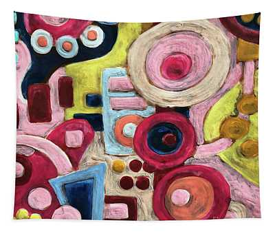 Geometric Abstract 1 Tapestry