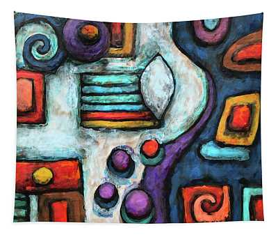 Geometric Abstract 5 Tapestry