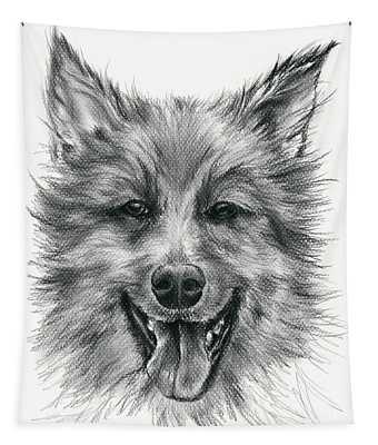 German Shepherd Smile Tapestry