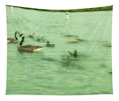 Ghost Ducks Tapestry