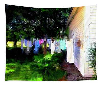 Ghost Wind In The Washline Tapestry