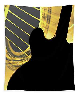 Gibson Guitar Image In Silhouette 1744.02 Tapestry