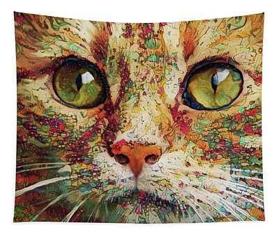 Ginger Cat Art Tapestry