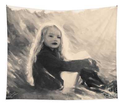 Girl In Jodpurs Tapestry