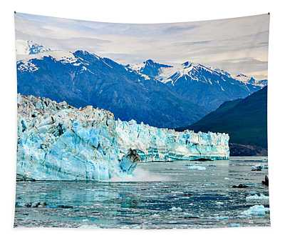 Glacier Calving Alaska  Tapestry